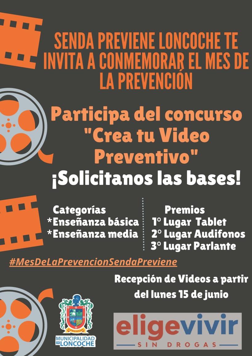 INVITACIÓN A CONCURSO PROGRAMA SENDA PREVIENE LONCOCHE.