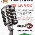 LONCOCHE TIENE FESTIVAL DE LA VOZ 2020 EN MODALIDAD ON LINE.