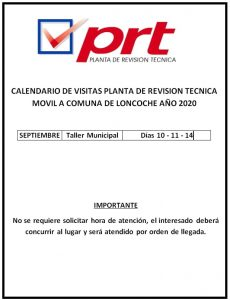 Planta de Revisión Técnica Móvil en Loncoche.