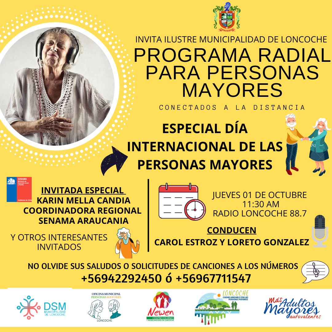 MAÑANA PROGRAMA ESPECIAL DÍA INTERNACIONAL DE LAS PERSONAS MAYORES.