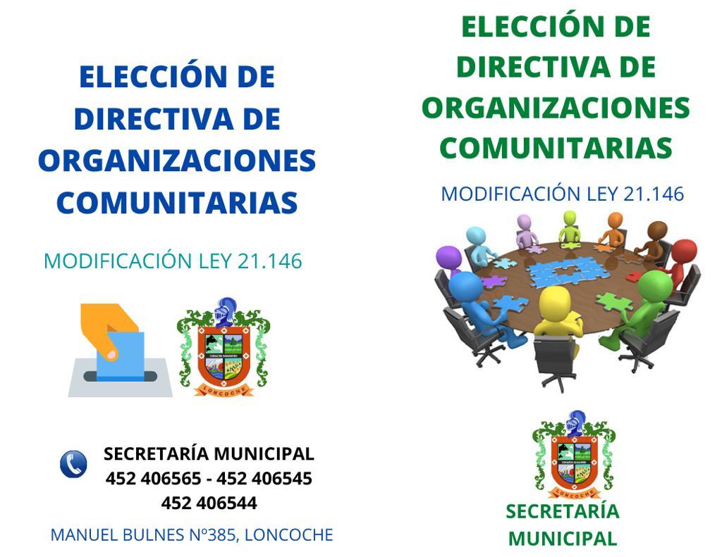 Ley N° 21.146, que simplifica el procedimiento de calificación de elecciones de juntas de vecinos y organizaciones comunitarias .