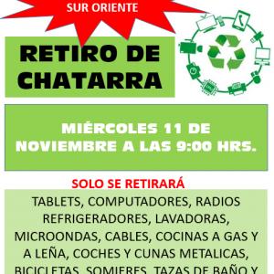 COMIENZA EL RETIRO ANUAL DE CHATARRA.