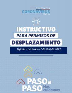 NUEVO INSTRUCTIVO PARA PERMISOS DE DESPLAZAMIENTO VIGENTE DESDE EL 07 DE ABRIL 2021 EN ESTADO DE PANDEMIA.