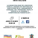 """Lanzamiento del Programa Triple P """"Apoyo a la Crianza y Competencias Parentales""""."""