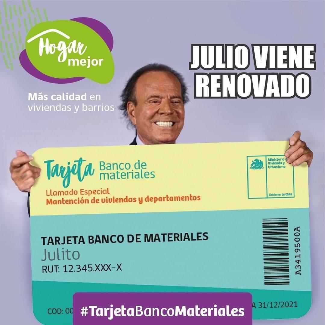 ¡Y FINALMENTE LLEGÓ JULIO CON NUEVA TARJETA BANCO DE MATERIALES.