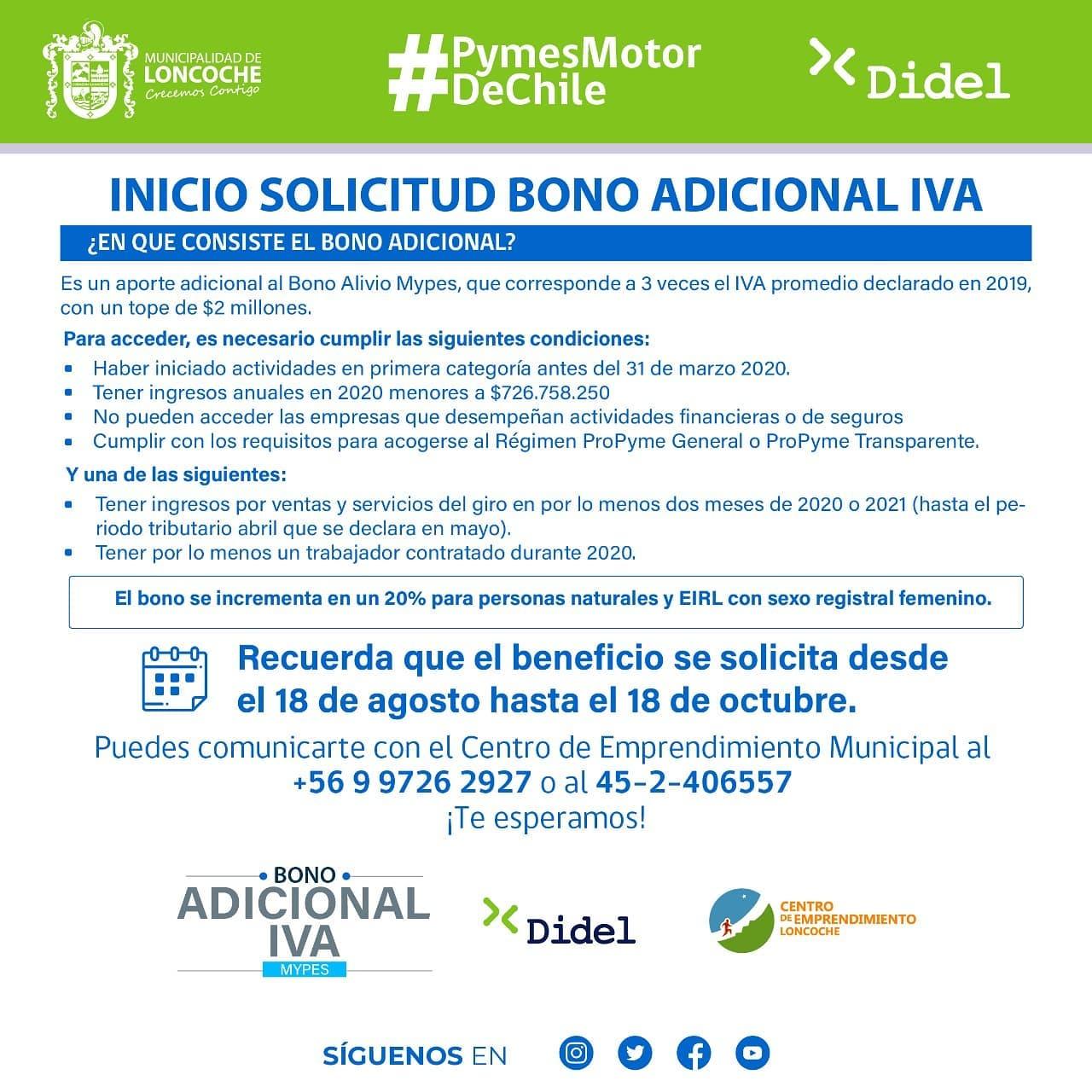 INICIO SOLICITUD BONO ADICIONAL IVA.