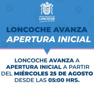 🛑 ÚLTIMO MINUTO | LONCOCHE AVANZA A APERTURA INICIAL FASE 4.