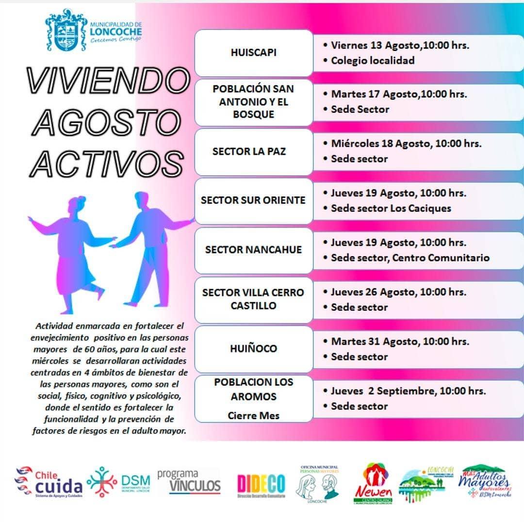 CALENDARIO VIVIENDO AGOSTO ACTIVOS.