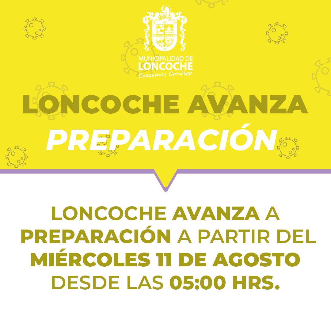 🛑ÚLTIMO MINUTO | LONCOCHE AVANZA A PREPARACIÓN.