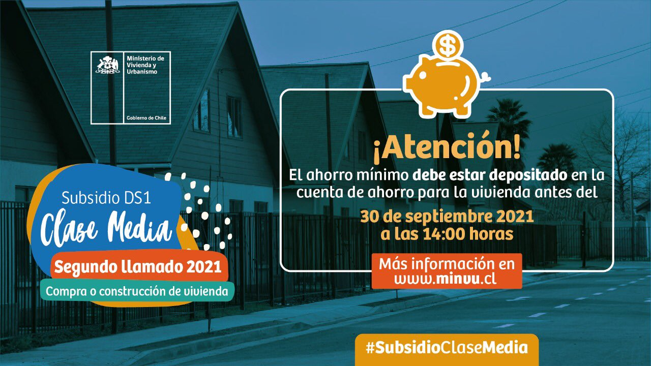 ¡Presta atención si postularás al segundo llamado del #SubsidioClaseMedia#DS1!🏡