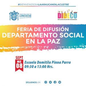 FERIA DIFUSIÓN SOCIAL LA PAZ.