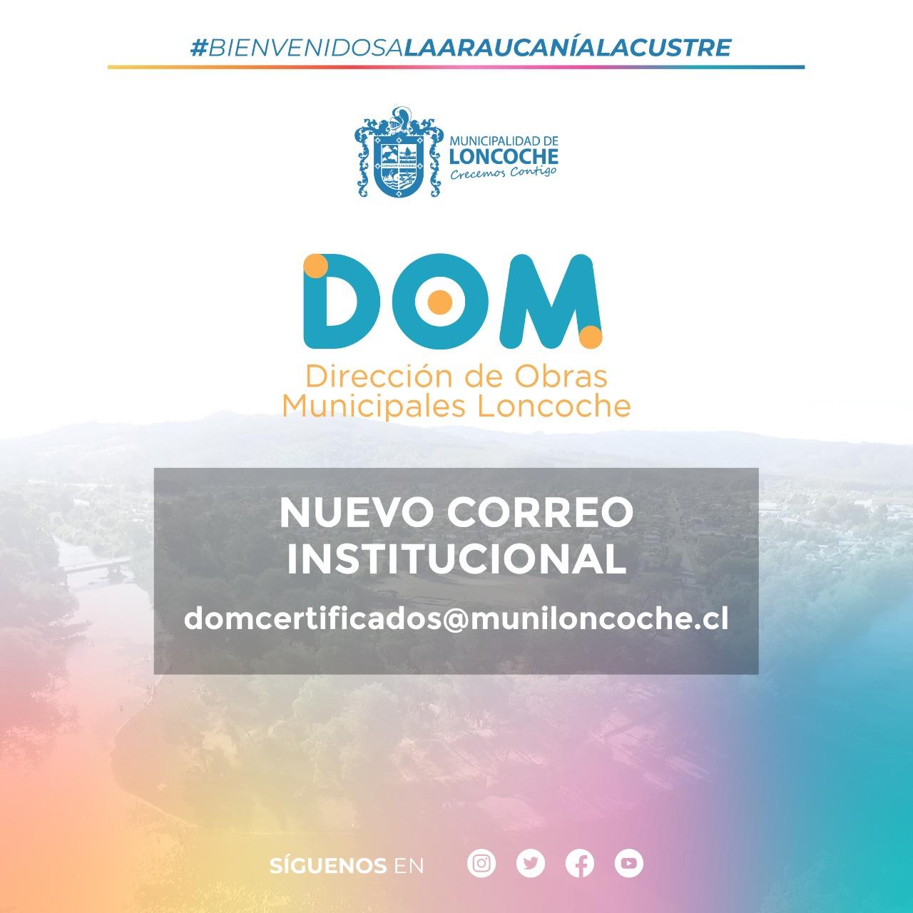 DIRECCIÓN DE OBRAS MUNICIPALES INFORMA: