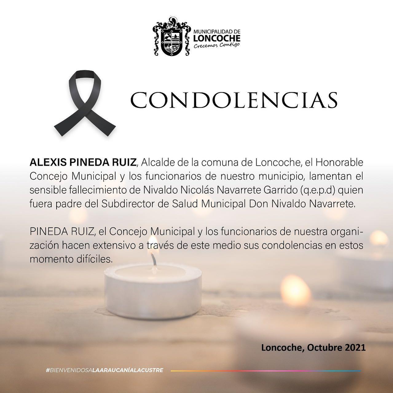 CONDOLENCIAS |